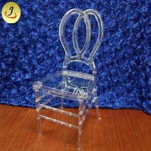 Factory price modern style excellent quality acrylic transparent Butterfly back wedding chairSF-X06