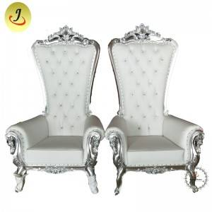 Cheap new product white and gold high back King throne chair SF-K037