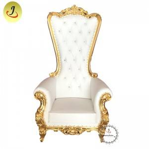 Wholesale price new product  golden red color  high back King throne chair SF-K039