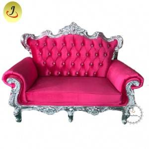Manufacturing Hotel Hot Pink King Throne Sofa for Wedding /Home King Throne SofaSF-k038