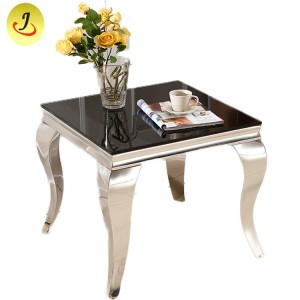 Modern Metal frame Tempered Glass Gold Wedding table SF-SS029