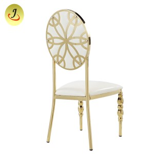Wedding Event Gold Stainless Steel Chair Wedding Luxury Dining Chair SF-SS019