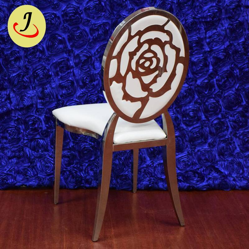 Modern style golden stainless steel pattern wedding chair SF-SS025 Featured Image