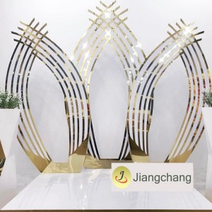 New Products Wood Base with Silver Acrylic Backdrop for Wedding SF-BJ018