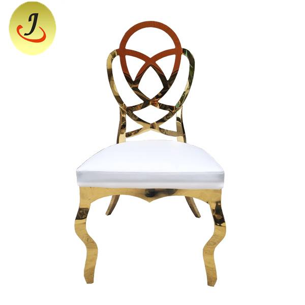 Top Sale Popular Wedding Hindi kinakalawang na Metal Chair SF-SS036 Itinatampok na Larawan