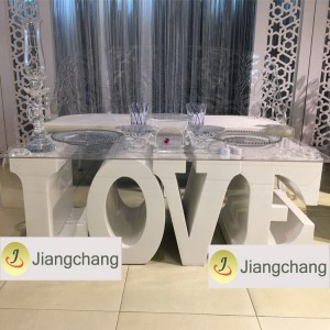 Popular White Wedding-ibig-Letter-Table / Modern Kasal Table SF-WT022