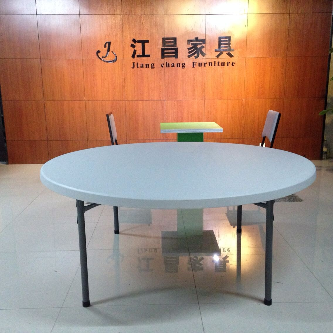 Original Factory Church Chair With Wooden Arms -