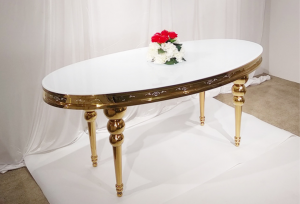 Oval Wedding Glass Dining Table SF-SS30