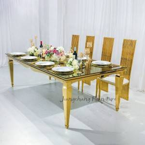 factory 10 seats people mirror table for wedding