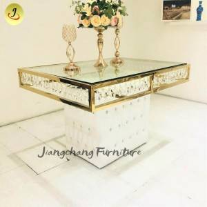 wedding furniture classic dining table crystal banquet mirror table SF-ST09