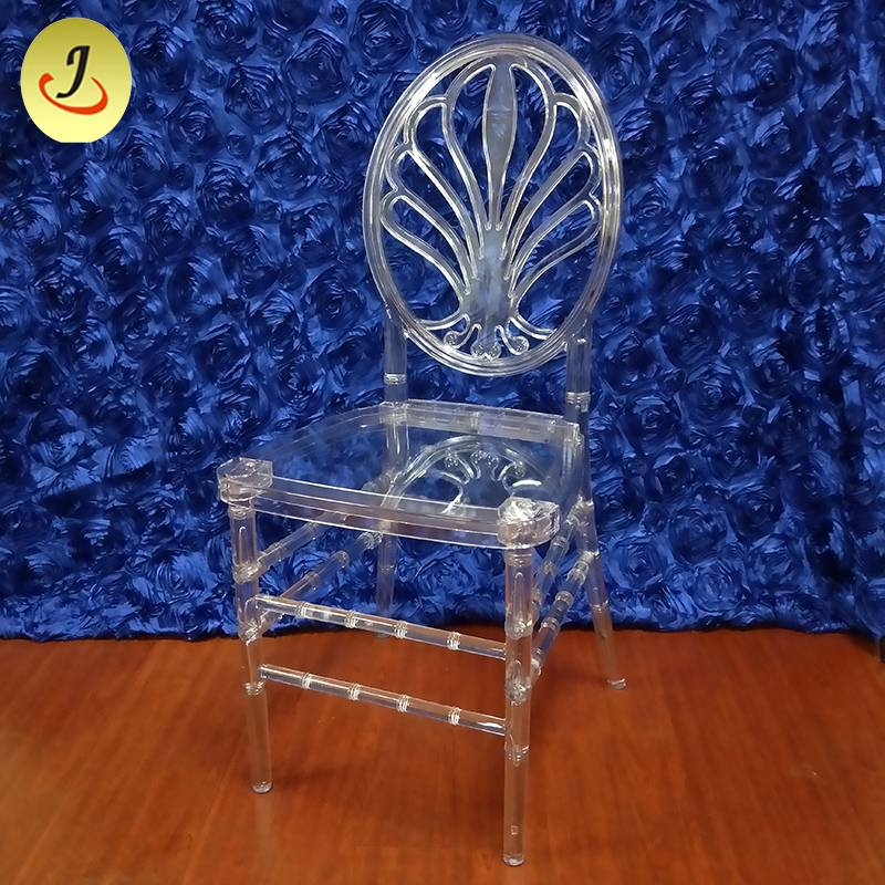Factory excellent quality acrylic transparent flower back wedding chair SF-X08 Featured Image