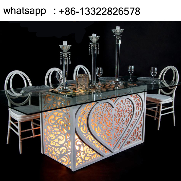 Parihaba Heart Table para sa Wedding SF-BJ02 Itinatampok na Larawan