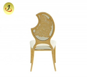 [Wholesale Royal Infinity Wedding steel metal Chairs /Dining Stainless Steel ChairSF-SS020