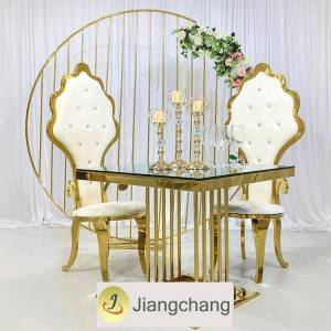 Wholesale stainless steel frame round table for wedding SF-SS037