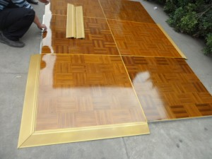 Manufacture directly cheap portable teak wood dance floor SF-W01