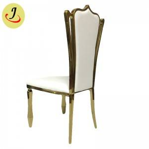 newest design Factory supply golden Stainless Steel hotel wedding Chair  SF-SS027