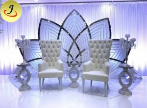 Modern Golden Mirror Wedding Backdrop for Events  SF-BJ020