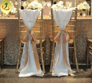 Wedding Popular Exquisite Decoration Lace Chair Cover /Wedding Chair Cover SF-YZC01