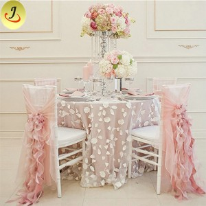 Wedding Popular Exquisite Decoration Lace Chair Cover  SF-YZC03
