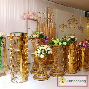 Modern and Fashion Gold Plating Flower Display Stand Wedding Decoration Flower Stand SF-Z019