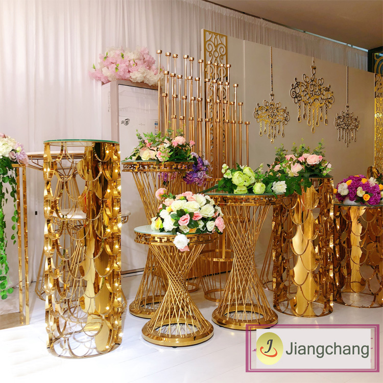 Modern and Fashion Gold Plating Flower Display Stand Wedding Decoration Flower Stand SF-Z019 Featured Image