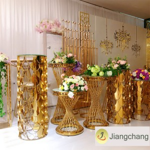 Modern and Fashion Gold Plating Flower Display Stand Wedding Decoration Flower Stand SF-Z028