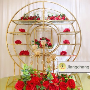 Wedding furniture wedding events metal wine shelf SF-BBF012