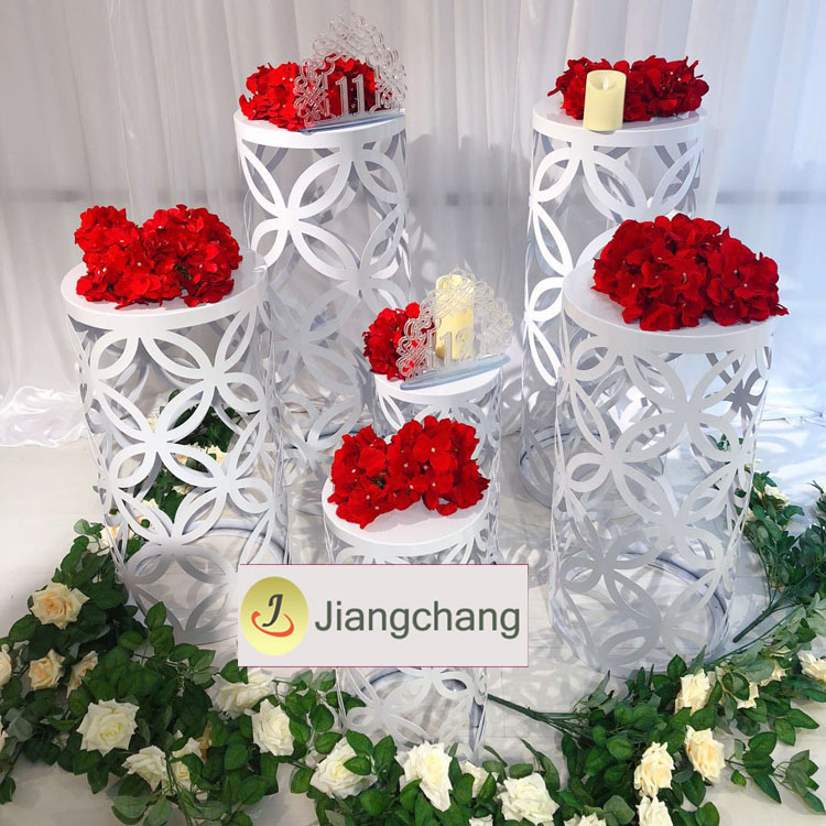 White iron spray paint round plinths wedding flower stands/wedding decoration/wedding flower display SF-Z020 Featured Image