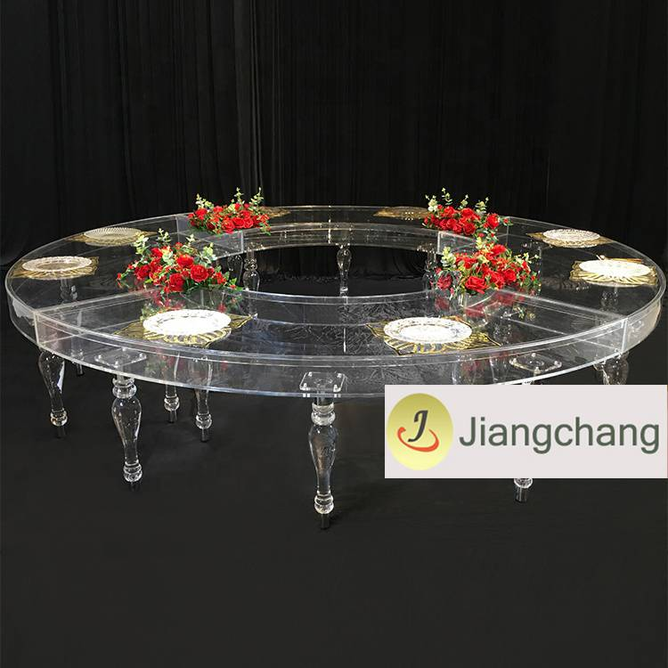 Wholesale clear acrylic plastic wedding dining table  SF-SS040 Featured Image