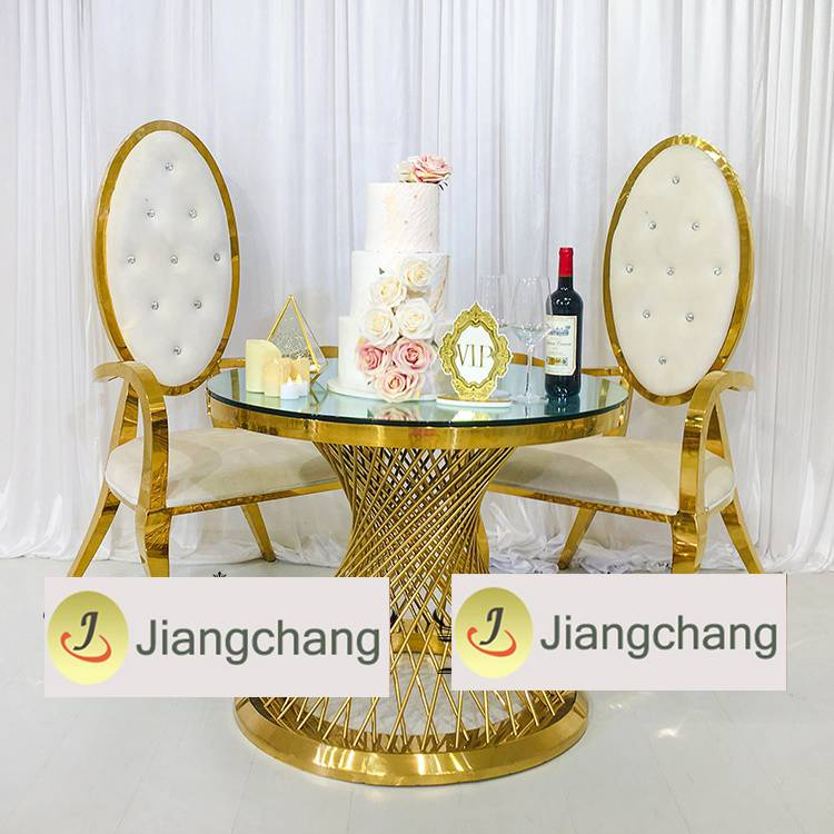 Wholesale stainless steel frame round table for wedding SF-SS037 Featured Image