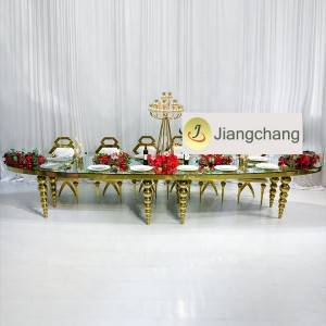 Wholesale modern stainless steel furniture table glass tables SF-SS043