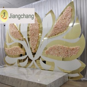 New design Wing Pink Flower Backdrops for wedding SF-BJ035