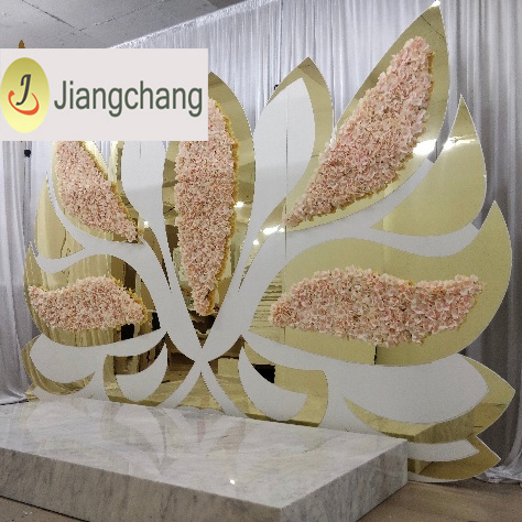 New design Wing Pink Flower Backdrops for wedding SF-BJ035 Featured Image