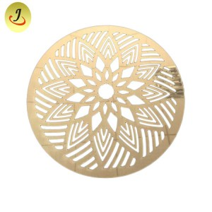 Factory Flower New Arrival Design PVC Placemat/Gold and Silver Round PVC Table Mat /Acrylic Mirror Dish Mat SF-MMD01
