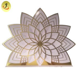 Luxury Golden Monet Acrylic Flower wedding backdrop For Event  SF-BJ018