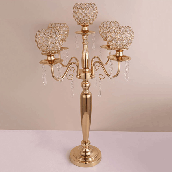 Factory wholesale Modern Church Chairs - Wholesale wedding tall gold candelabra centerpieces SF-ZT01 – Jiangchang Furniture