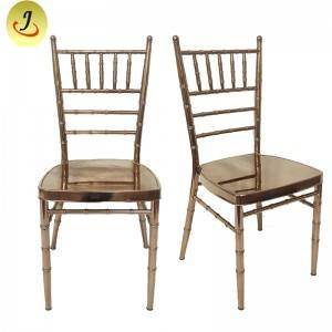Wholesale Manufacturer Popular mirror Metal gold resin Wedding Chiavari Chair FS-TC018