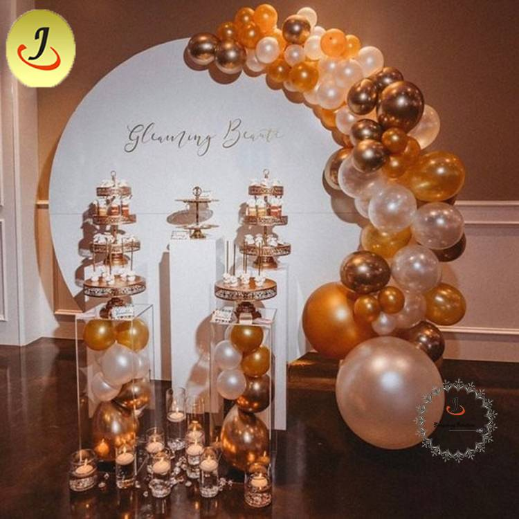Modern Custom Large Acrylic Round Board Decoration for Wedding/wedding display SF-BJ035 Featured Image