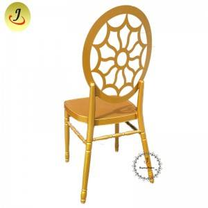 Wedding Event Hollow Golden luxury Stainless Steel Dining Chair SF-SS040