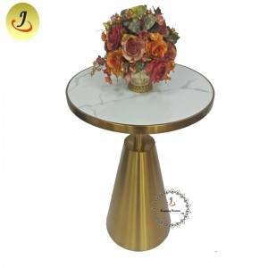 Luxury Gold Stainless Steel iron Furniture Dining Table Round Dining Table  SF-SS043