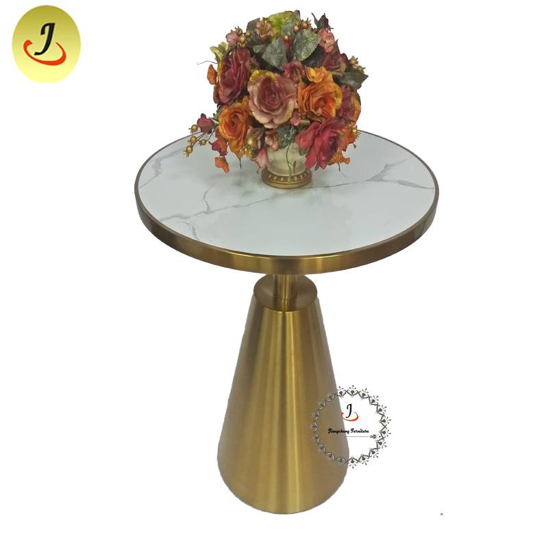 Luxury Gold Stainless Steel iron Furniture Dining Table Round Dining Table  SF-SS043 Featured Image