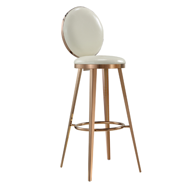 Gold stainless steel high bar stool SF-SS19 Featured Image