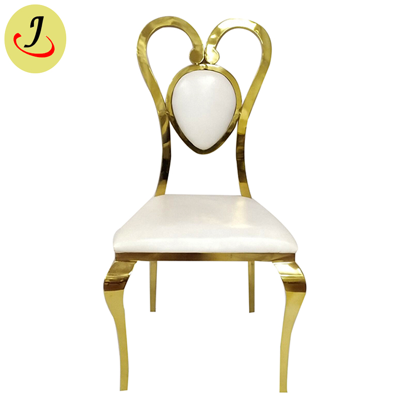 Special design golden hear shape Elegant Stainless Steel wedding Chair  SF-SS031 Featured Image