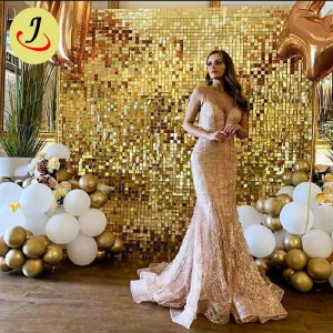 Pink party backdrop Sequin Wall Billboard Sequin backdrop Panel decoration  SF-BJ048