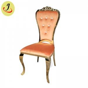 new design Bride and groom golden Stainless Steel event wedding Chair  SF-SS041