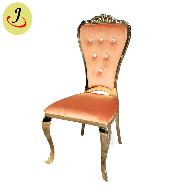 new design Bride and groom golden Stainless Steel event wedding Chair  SF-SS041 Featured Image