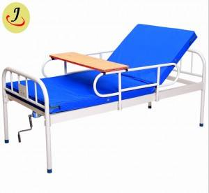 Double-shaking manual nursing thickened square tube bed medical bed