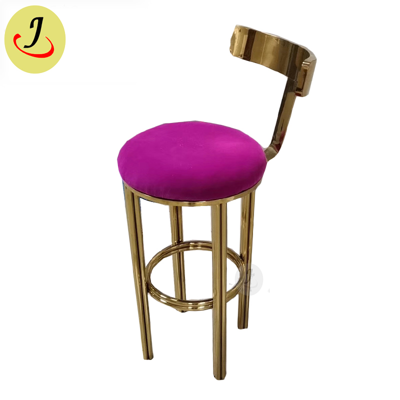 new design popular style Gold stainless steel high bar stool SF-SC03 Featured Image