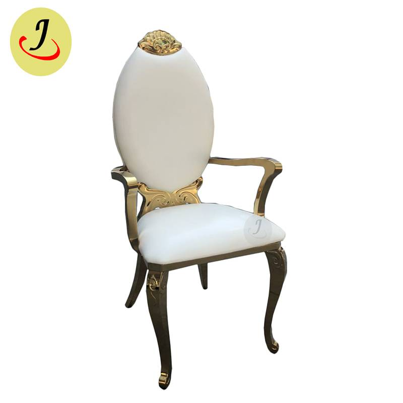 Bride and groom golden Stainless Steel event Chair with arm SF-SS041 Featured Image