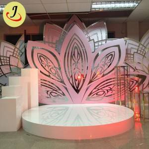 luxury flower acrylic Backdrop for Wedding for Sale/wedding display SF-BJ042